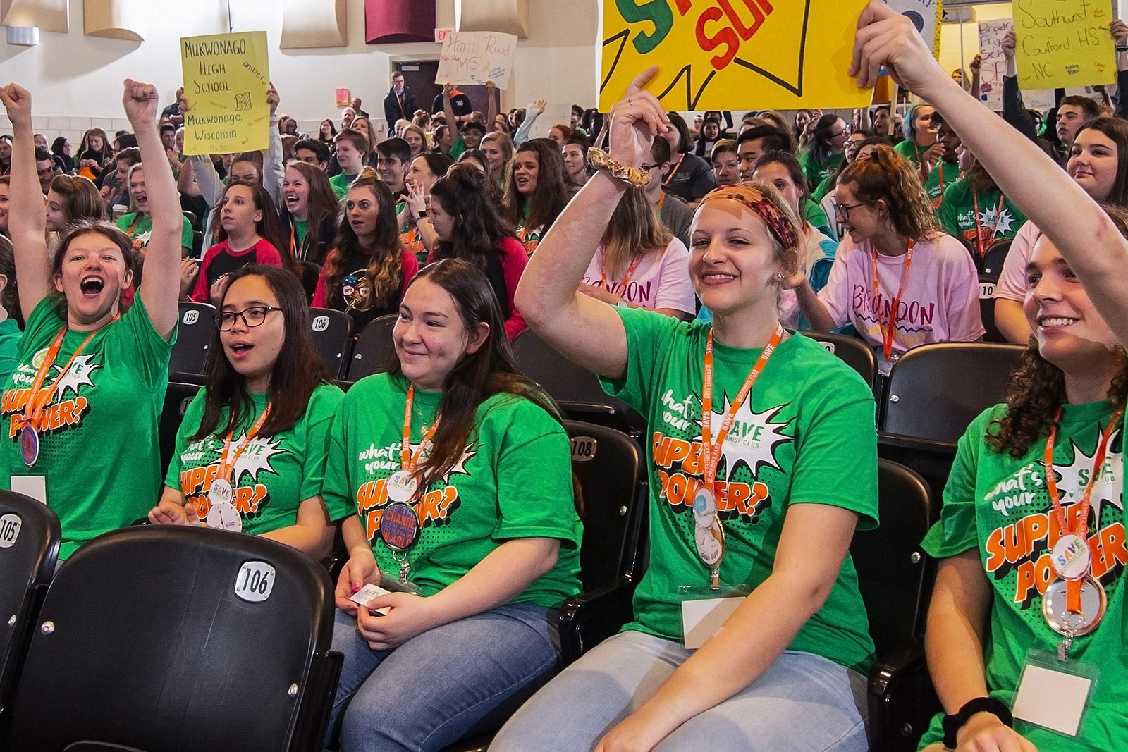 Students at a SAVE Promise Club rally