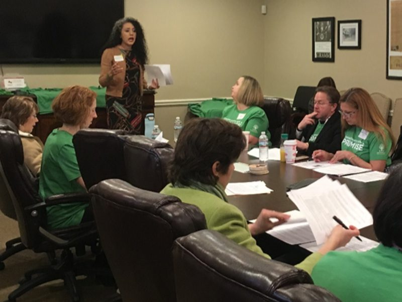 Promise Leaders strategize during the Texas Statehouse Day held in 2020.