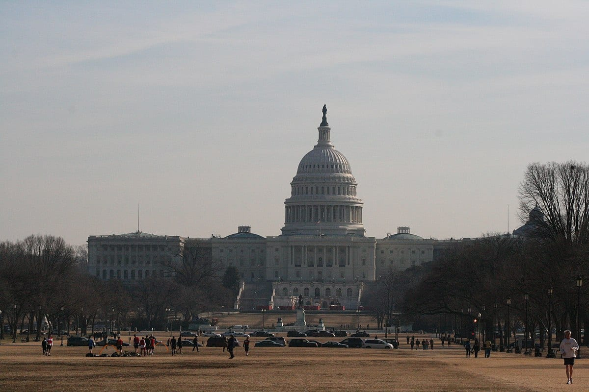 A photograph of the U.S. Capitol building taken from the National Mall