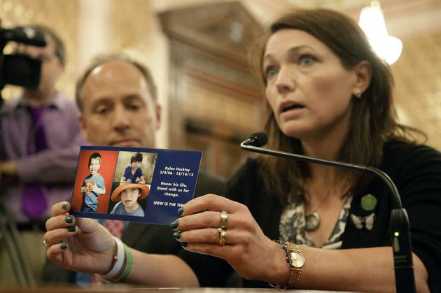 Nicole Hockley and Mark Barden testify on key reforms to help create change after the tragesy at Sandy Hook elementary.
